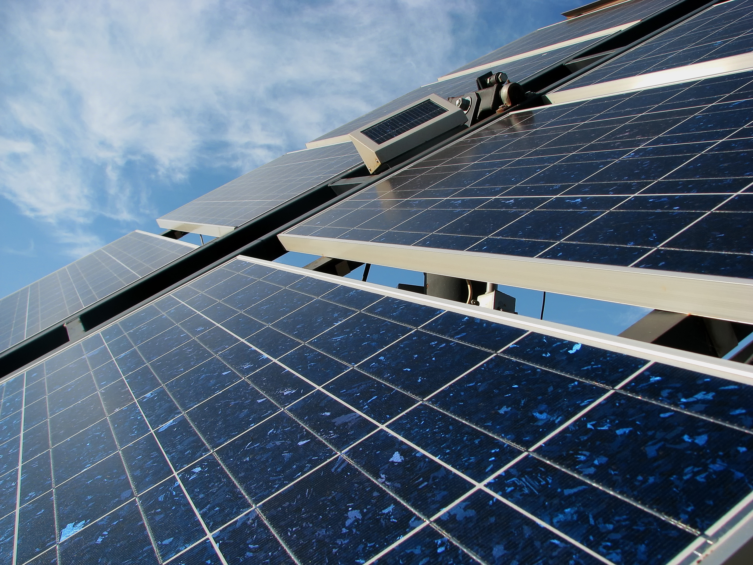 Photovoltaic Panels Green Energy For The Buildings Of